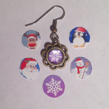 Christmas & Winter Theme Dangle Earrings