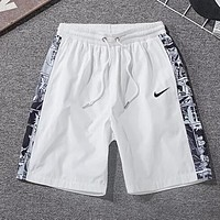 NIKE Trending Women Men Stylish Casual Comic Print Sport Running Shorts White