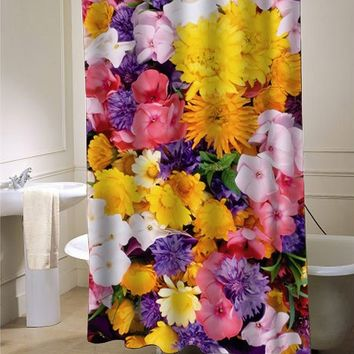 flower custom shower curtain - myshowercurtains