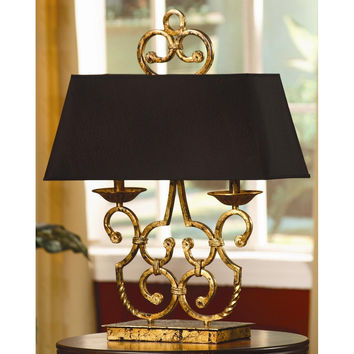 "Crestview Collection Charleston 27"" H Table Lamp With Rectangle Shade"