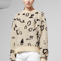 Sonic Sweater - White - Knitwear - Weekday GB