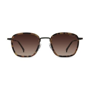 Komono - Boris Tortoise Black Sunglasses / Polarized Revo Lenses