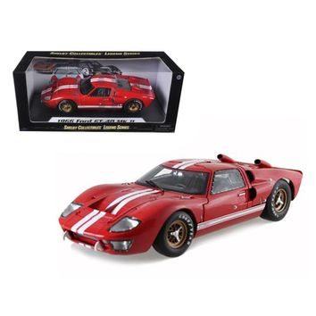 1966 Ford GT40 GT 40 Mark II Red 1-18 Diecast Model Car by Shelby Collectibles