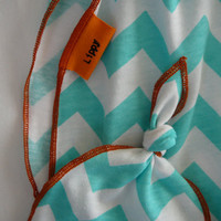 Hat and blanket set. Chevron print, swaddler type, stretchy knit. Size- 31 by 40 inches. (Made by lippybrand)