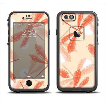 The Coral DragonFly Apple iPhone 6 LifeProof Fre Case Skin Set