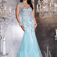 Panoply 14766 Keyhole Bodice Formal Prom Gown