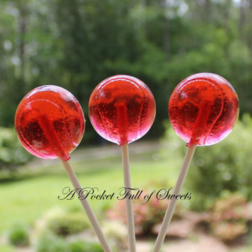 10 BASEBALL Party Favors Hard Candy Barley Sugar Lollipops Suckers Birthday Party Favors Gifts
