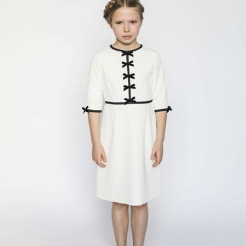 Aisabobo Girls' White Anais Bow Dress