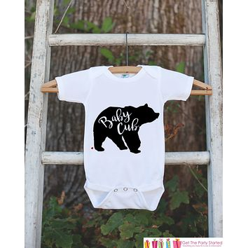 Baby Cub Outfit - Bear White Shirt - Baby Shower Gift - Family Outfits - Pregnancy Reveal