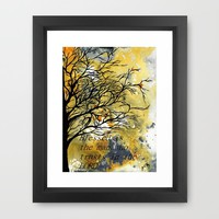 Blessed Is The Man Who Trusts In The Lord Framed Art Print by Saribelle Inspirational Art | Society6