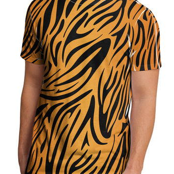 Tiger Print Men's Sub Tee Dual Sided All Over Print