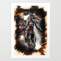 League of Legends NIGHTBLADE IRELIA Art Print by naumovski
