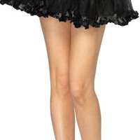 Petticoat With Pleated Satin Trim