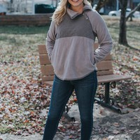 Quilted Pullover, Grey