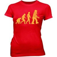 Robot Evolution Women's T-Shirt [Red]