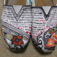Custom Toms by Noshalove on Etsy