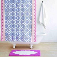 Mittal Periwinkle Shower Curtain by John Robshaw