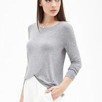 FOREVER 21 Heathered Knit Top