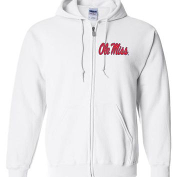 Official NCAA University of Mississippi Rebels Ole Miss Hotty Toddy Zip Hoodie - 35OLM6