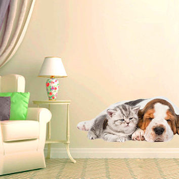 dog Wall Decals cat wall decor Animals wall Decals dogs Full Color Decals dog Art Sticker veterinary clinic decor Home Decor cik2229