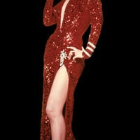Red Sequin Marilyn Monroe Dress Choose Your Size by Morningstar84