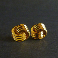 Vintage Earrings Trifari Gold Tone Classic Knot