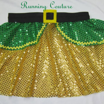 Buddy Elf  inspired Sparkle Running Misses Circle skirt