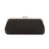 Kate Landry Pleated Satin Frame Clutch