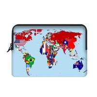 National Flag World Map Apple Macbook, Macbook Air 13 inch Laptop Sleeve Case Bags (Two Sides)