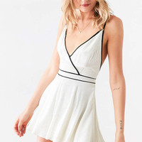 Cooperative Bonbon Surplice Polka Dot Romper - Urban Outfitters