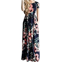 Summer Long Maxi Dress Floral Print Boho Beach Dress Tunic Bandage Bodycon Evening Party Dress Vestidos largos mujer Plus Size