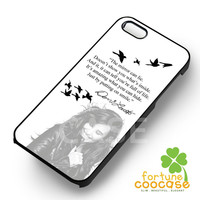 Demi Lovato inspiring quote from her -5arw for iPhone 6S case, iPhone 5s case, iPhone 6 case, iPhone 4S, Samsung S6 Edge