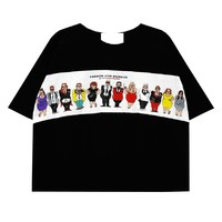 Actors Printed Contrast Color T-Shirt