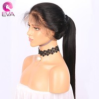 "Eva Hair 250% Density 360 Lace Frontal Wig Pre Plucked With Baby Hair Straight Natural Hairline 10""-22"" Brazilian Remy Hair Wigs"
