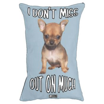 I Don't Miss Out Puppy by Kat Worth Pet Bed