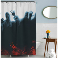 Zombies, Walking Dead Horde, Shower Curtain, Bath Zombie