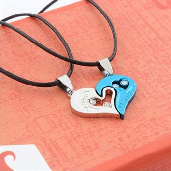 ONETOW 2015 Fashion couples pendant heart-shaped diamond necklace HB302 = 1929573188