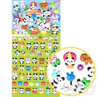 Bunnies Panda Bear Shaped Carnival Themed Puffy Stickers for Kids