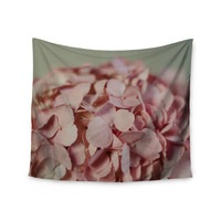 "Cristina Mitchell ""Pink Hydrangea"" Photography Nature Wall Tapestry"