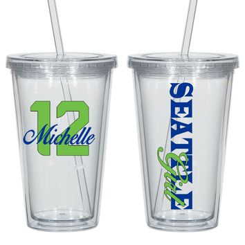 Seattle Acrylic Personalized Tumbler - Perfect Gift - Free Shipping