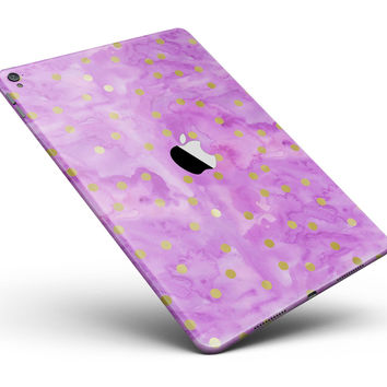 "Gold Polka Dots Over Grungy Pink Surface Full Body Skin for the iPad Pro (12.9"" or 9.7"" available)"