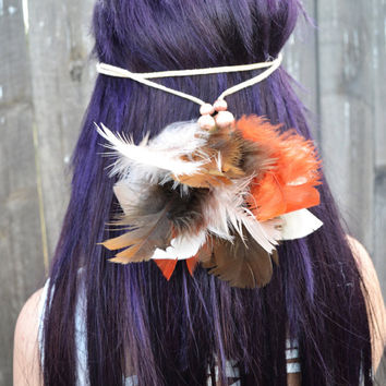 Fluffy Feather Headband