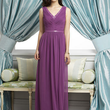 Dessy Collection 2927 Chiffon Bridesmaid Dress with Sequin Detail