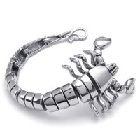 New Europe and America Style Stainless steel scorpion king bracelet men's characteristics Bracelet | Darkinblack Punk Style Jewerly