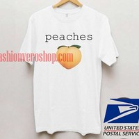Peaches T shirt Unisex adult mens t shirt and women t shrt