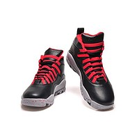 Hot Air Jordan 10 Retro Women Shoes Black Red White