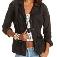 Studded Anorak Jacket: Charlotte Russe