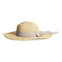 H&M - Straw Hat - Light beige - Ladies