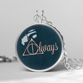 Harry Potter After all this Time, Always Quote pendent necklace, gift girlfriend boyfriend gift