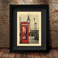 London Print, Big Ben Print, London Poster, Red Phone Box, Black and White, London Photo, London Decor, London Wall Art, City Art Prints -72